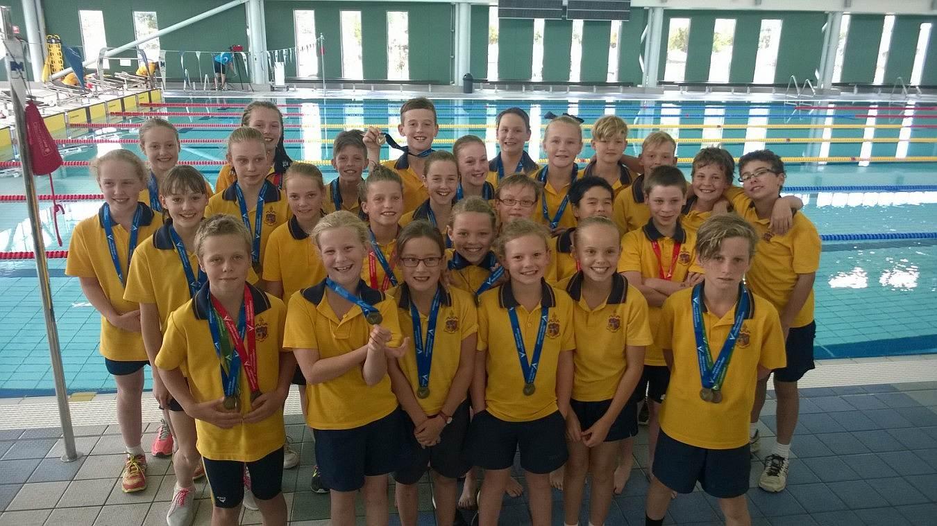 Junior swimming team